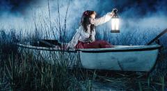 The Journey (mhoganphoto) Tags: light water senior girl fog mystery vintage boat haze model swamp mysterious epic seniorportrait