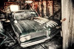 the old forgotten pontiac (Harry2010) Tags: canada green abandoned window car pontiac saskatchewan prairies 1962 parisienne