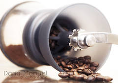 coffee grinder (Dana C. Manuel) Tags: glass coffee milk cafe shots espresso shotglass coffeegrinder bombon hario