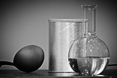 The Experiment (5of7) Tags: bw stilllife water glass flask object vase simple challengewinner flickrchallengegroup 3wins thestorybookchallengegroup storybookwinner pregamewinner
