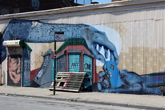 Brooklyn - Bushwick: Five Points - OverUnder (wallyg) Tags: nyc newyorkcity streetart ny newyork brooklyn graffiti mural gothamist fivepoints bushwick overunder 5points kingscounty erikburke bushwickfivepoints bushwick5points bushwickcollective