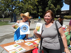 World Book Night Volunteer Group Book Giver Catherine Carroll with Book Recipient @ Chabot College - April 23, 2013 - Hayward, California - 093 (Hayward Public Library) Tags: california reading libraries books literacy thelanguageofflowers cityofhayward 94541 haywardpubliclibrary vanessadiffenbaugh worldbooknight2013