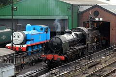 Thomas and the U-boat (jalapenokitten) Tags: unitedkingdom railway hampshire steam locomotive gbr ropley midhantsrailway 31806 classu