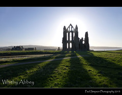 Whitby Abbey Shadows (Paul Simpson Photography) Tags: history sunshine town seaside shadows yorkshire bluesky coastal northsea northyorkshire whitbyabbey englishheritage historicbuilding photosof imageof photoof imagesof lumixtz30 paulsimpsonphotography