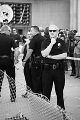 Denver Police (Christopher Empson) Tags: blackandwhite bw colorado denver 420 shooting officer dpd civiccenterpark canonef24105mmf4lisusm