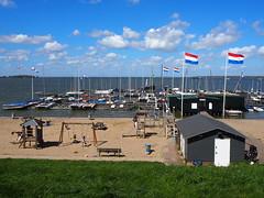 Plage de Muiderberg (ynlray) Tags: plage paysbas hollande drapeaux muiderberg ijmeer