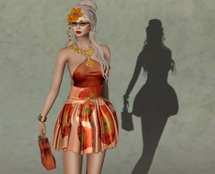 Orange Is the New Black (Jamee Sandalwood - Miss V SWEDEN 2015) Tags: shadow summer orange female magazine photography spread photo model 500v20f models sl secondlife virtual blonde chic couture slfashion misschelsea finesmith
