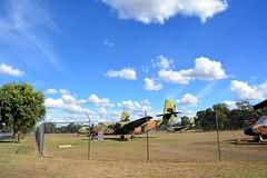 DSC_0915 (LoxPix2) Tags: clouds vintage landscape airport aircraft australia queensland nomad caribou oakey loxpix australianarmyflyingmuseum