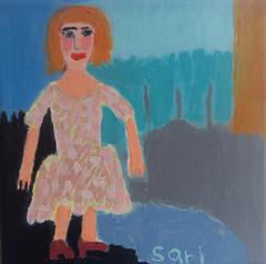 #1315 (sariart2) Tags: original abstract art girl painting landscape acrylic raw folk ooak sari primitive childlike azaria noy