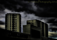 The Intrusive (HSS) (13skies) Tags: buildings dark skies darkness sony sunday effect topaz postprocessing hss darkseries happyslidersunday