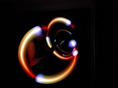 The pod poi worm hole (imajane) Tags: dscf4480 light pod poi self timer point shoot pointandshoot wormhole