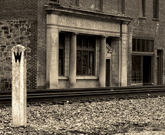Whistle Stop (95wombat) Tags: old railroad bw monochrome historic westvirginia coal derelict decayed thurmond