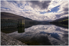 Reflections on Talybont Reservoir (Sharon Dow Photography) Tags: uk bridge light mountain holiday reflection water beautiful southwales wales clouds rural trekking wow walking landscape outdoors countryside nikon scenery view britain hiking country ngc scenic naturallight breconbeacons hills valley attractive stunning fields blueskies welsh stillwater pontsticill cloudporn penyfan mountainrange 2016 talybont tafftrail bannaubrycheiniog talybontonusk talybontreservoir brinoretramroad parccenedlaetholbannaubrycheiniog nikond7100 sharondowphotography april2016 reflectionsontalybontreservoir