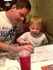 "Paul and Daddy Draw Cubes at Margarita's • <a style=""font-size:0.8em;"" href=""http://www.flickr.com/photos/109120354@N07/27243963513/"" target=""_blank"">View on Flickr</a>"