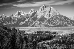 A Paean to Ansel Adams and His Iconic Image (Margan Zajdowicz) Tags: blackandwhite mountain digital landscape nationalpark outdoor snakeriver grandtetons anseladams monochorme zajdowicz