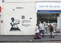 Muhammad Ali, Kings Heath (new folder) Tags: typography graffiti birmingham quote boxing birminghamuk muhammadali kingsheath silverst careforthechild