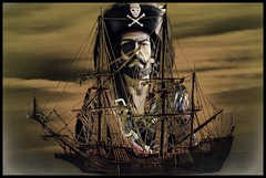 The Pirate and his Ship (Rusty Russ) Tags: photoshop flickr google bing daum yahoo image stumbleupon facebook getty national geographic magazine creative creativity montage composite manipulation color hue saturation flickrhivemind pinterest reddit flickriver t pixelpeeper blog blogs openuniversity flic twitter alpilo commons wiki wikimedia worldskills oceannetworks ilri comflight newsroom fiveprime photoscape winners all tumblr android colourful red blue green white air eye art landscape instagram digital light new high exposure style
