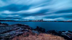 Cobalt Dreams. (Brendinni) Tags: longexposure water clouds washington stormy westseattle pugetsound bluehour cloudporn seattleskyline ndfilter