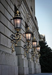 Ornate lamps (terri_mcclanahan) Tags: architecture lamps wallsconces rows lights ornate building