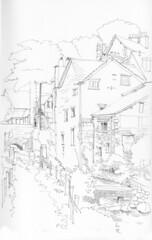 June 03 2016: Mills on Stock Gyll Beck, Ambleside, Cumbria