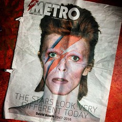 The still look very different (Flamenco Sun) Tags: thenews newspaper metro starman davidbowie ziggystardust soggystardust thinwhiteduke aladdinsane bowie