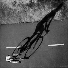 Bike in the low winter sun (beninfreo) Tags: winter shadow bike canon square perth cycle racer bicyclie canon5d3