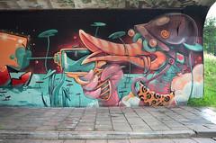 """Duck with a watergun"" graffiti mural in Eindhoven (Ben den Hartog) Tags: urban holland art netherlands graffiti duck mural nederland murals eindhoven arena urbanart step beat boogie graffitiartist hombre erase watergun graffitiart berenkuil straatkunst stepinthearena graffitimural arsek"