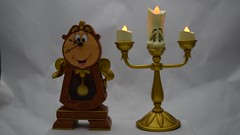 Cogsworth and Lumiere by Disney Parks (drj1828) Tags: us disneyparks disneyland purchase beautyandthebeast cogsworth clock lumiere candle lightup