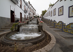 "This water cascade commemorates ""Aqua de Firgas"", a famous spring water spa (smir_001) Tags: winter mountains art history water fountain architecture landscape island islands spring spain aqua village january gran canarian cascade spa canaria bulding firgas aquadefirgas"