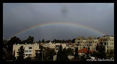 -A Rainbow above Jerusalem (moshek70) Tags: sky weather clouds israel rainbow jerusalem