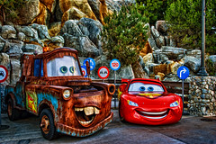 Mater Stole My Teeth! (hbmike2000) Tags: cars nikon teeth mater disney d200 hdr disneycaliforniaadventure hss cars2 lightningmcqueen dineylandresort carsland sliderssunday hbmike2000