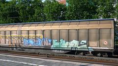 Graffiti in Kln/Cologne 2011 (kami68k [-allover-]) Tags: train graffiti cologne dani kln illegal iloveyou freight bombing bunt bluenote 2011 loof transwaggon fr8d nocatfreights