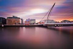 Sunset Over Dublin (chris lazzery) Tags: longexposure ireland sunset dublin riverliffey canonef1740mmf4l 5dmarkii samuelbeckettbridge bw30nd