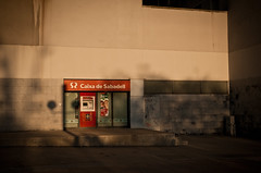 Caixa de Sabadell (pixelhut) Tags: barcelona espaa geotagged spain catalonia barceloneta atm cashpoint