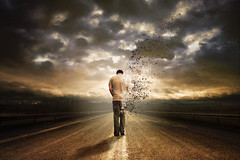 Wither (Ian_Arneson) Tags: road portrait sky inspiration art clouds photoshop self dark photography pain hurt nikon highway raw expression fineart feel creative vivid surreal sigma wither passion unknown mysterious imagination 1770 fineartphotography vast d90 surrealphotography cs5 phlearn