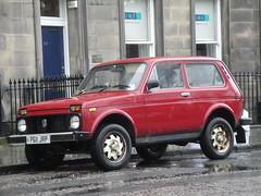 1996 Lada Niva Hussar (GoldScotland71) Tags: 1996 4wd lada 1990s niva offroader hussar p611jrp