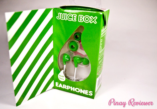 Juice Box apple scented earphones