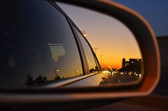 going home (Samir Cabbarov) Tags: sunset window car view baku azerbaijan through avenue heydar aliev
