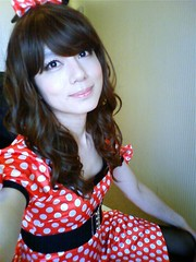Minnie's Dress :D (Sweetflower Yui) Tags: japan asian japanese tv dress cd tgirl tranny transvestite minnie crossdresser ladyboy yui