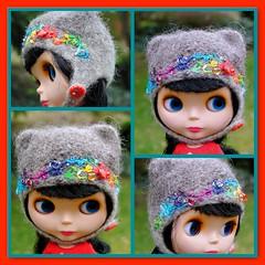 The Folklore Kitty Helmet: If I Only Had A Heart (Euro_Trash) Tags: grey rainbow website blythe eurotrash crystalheart kittyhelmet