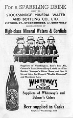 Advertisement, Stocksbridge Mineral Water & Bottling Co, Sheffield, 1950s (Sheffield Libraries and Archives) Tags: vintage advertising sheffield retro 1950s shops southyorkshire stocksbridge