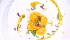 Τορτελίνι με ρακότα, πράσο, γλυκιά κολοκύθα και φασκόμηλο - Tortelini me rakota, praso, glykia kolokytha kai faskomilo - Tortellini with wreck, leek, sweet pumpkin and sage