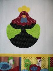 galinha muito colorida... (Ka Comelli) Tags: cactus galinha patch cozinha aplique patchcolagem apliquée panoprato patchaplique