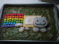 Nyan cat cake (in better lighting) (akki14) Tags: