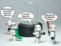 Supertrooper experiment: the first results. (Greg 50) Tags: starwars lego stormtroopers experiment lizard stormtrooper deathstar laguerredestoiles