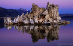Purple Hour at Mono Lake (alpenbild.de) Tags: california morning usa lake reflection water rock landscape see twilight rocks wasser desert rocky dmmerung fels monolake landschaft reflexion morgen spiegelung hdr wste kalifornien morgens felsen leevining felsig photomatixpro daemmerung purplehour