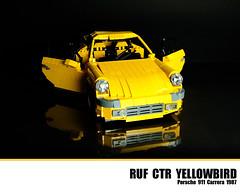 LEGO Ruf CTR Yellowbird - Porsche 911 Carrera 1987 (Malte Dorowski) Tags: lego 1987 911 porsche carrera ruf ctr yellowbird foitsop