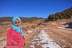 girl by mountain track (Merv Colton) Tags: travel girl morocco atlas nomad moglander