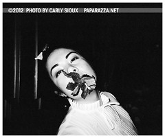 Carly Sioux @ Hurricane Club (carly_sioux) Tags: bw film brooklyn streetphotography nightlife pointshoot picturesofyou paparazza carlysioux