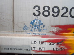 soak (..bloodsweatandyears..) Tags: west cn train bench graffiti coast bc cp freight bnsf rolling sry
